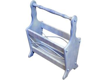 Porte revues Azur bleu patine