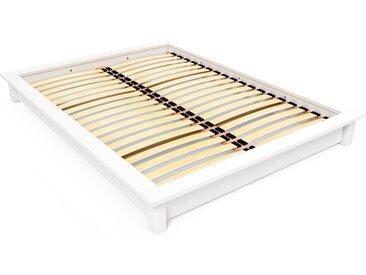 Lit futon Solido bois Massif - 2 places 160x200cm Blanc