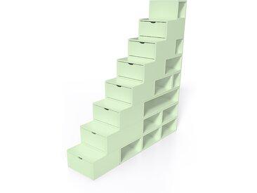 Escalier Cube de rangement hauteur 200 cm  Vert Pastel