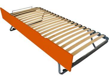 Tiroir lit Sommier relevable pin 90x190cm Orange