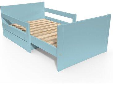 Lit évolutif enfant avec tiroir bois 90 x (140/170/200)cm Bleu Pastel