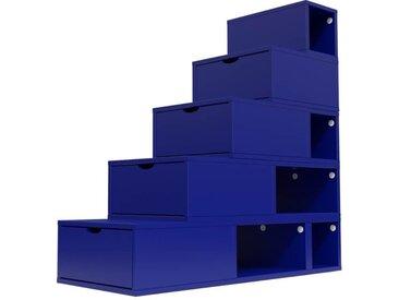 Escalier Cube de rangement hauteur 125 cm  Bleu foncé