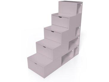Escalier Cube de rangement hauteur 125 cm  Violet Pastel