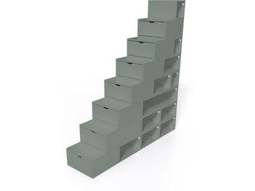 Escalier Cube de rangement hauteur 200 cm  Gris