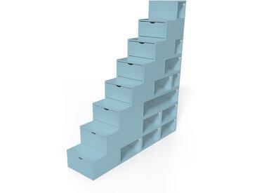 Escalier Cube de rangement hauteur 200 cm  Bleu Pastel