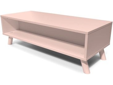 Table Basse Scandinave rectangulaire Viking bois  Rose Pastel