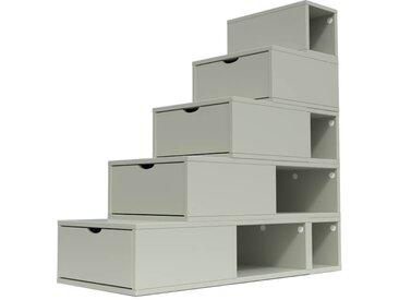 Escalier Cube de rangement hauteur 125 cm  Moka