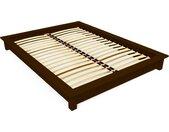 Lit futon 2 places bois massif Solido 140x190cm Wengé
