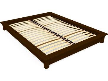 Lit futon Solido bois Massif - 2 places 140x190cm Wengé