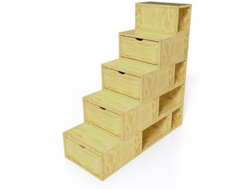 Escalier Cube de rangement hauteur 125 cm  Miel