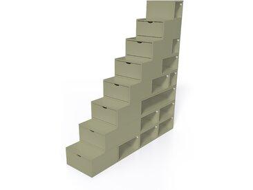 Escalier Cube de rangement hauteur 200 cm  Taupe