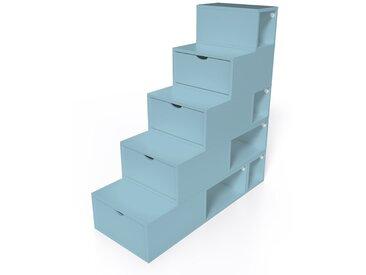 Escalier Cube de rangement hauteur 125 cm  Bleu Pastel