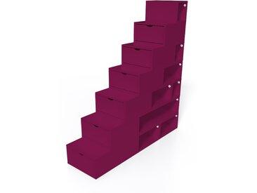 Escalier Cube de rangement hauteur 175 cm  Prune