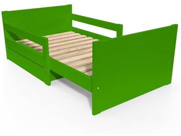 Lit évolutif enfant avec tiroir bois 90 x (140/170/200)cm Vert