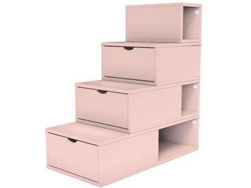 Escalier Cube de rangement hauteur 100 cm  Rose Pastel