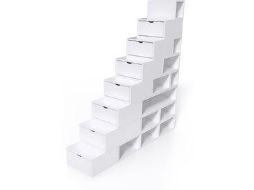 Escalier Cube de rangement hauteur 200 cm  Blanc