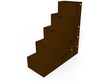 Escalier Cube de rangement hauteur 125 cm  Wengé