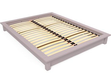 Lit futon Solido bois Massif - 2 places 140x190cm Violet Pastel
