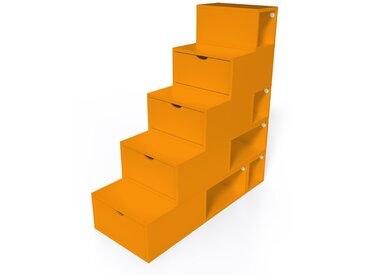 Escalier Cube de rangement hauteur 125 cm  Orange