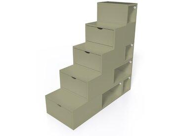 Escalier Cube de rangement hauteur 125 cm  Taupe