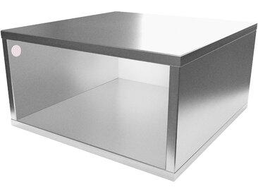 Cube de rangement 50x50 cm bois 50x50cm Gris Aluminium