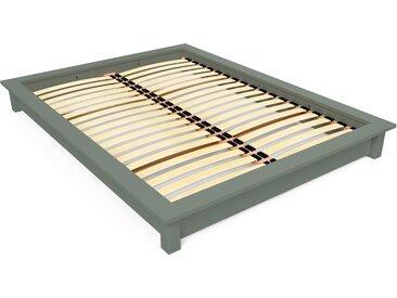 Lit futon Solido bois Massif - 2 places 160x200cm Gris