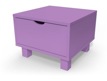 Chevet cube tiroir bois  Lilas