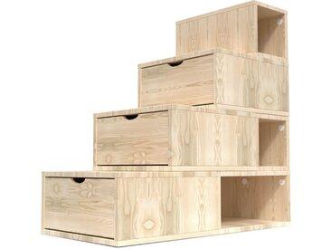 Escalier Cube de rangement hauteur 100 cm  Vernis Naturel