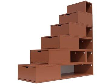 Escalier Cube de rangement hauteur 150cm  Chocolat