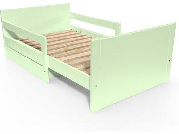 Lit évolutif enfant avec tiroir bois 90 x (140/170/200)cm Vert Pastel