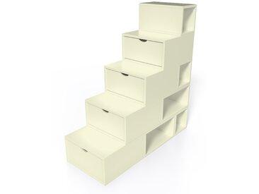 Escalier Cube de rangement hauteur 125 cm  Ivoire