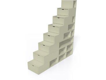 Escalier Cube de rangement hauteur 200 cm  Moka