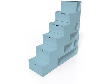 Escalier Cube de rangement hauteur 150cm  Bleu Pastel