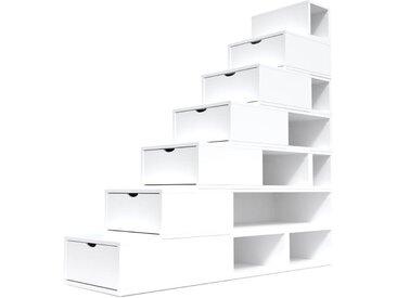 Escalier Cube de rangement hauteur 175 cm  Blanc