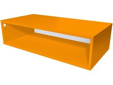 Cube de rangement 100x50 cm bois  Orange