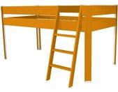 Lit Compact surélevé enfant 90x190cm Orange