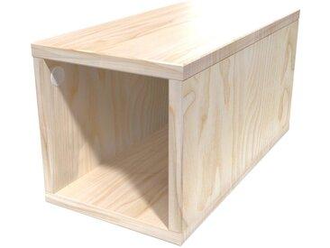 Cube de rangement 25x50 cm bois 25x50cm Vernis Naturel