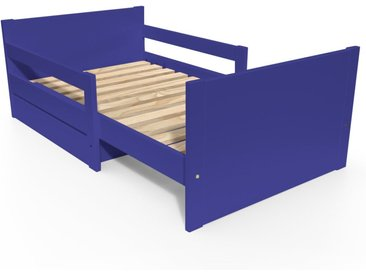 Lit évolutif enfant avec tiroir bois 90 x (140/170/200)cm Bleu foncé