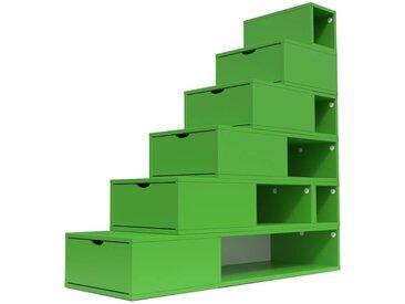 Escalier Cube de rangement hauteur 150cm  Vert