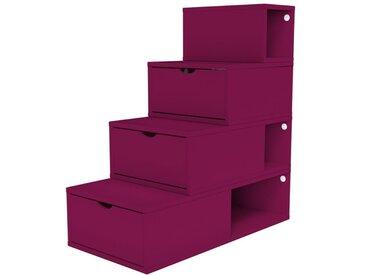 Escalier Cube de rangement hauteur 100 cm  Prune