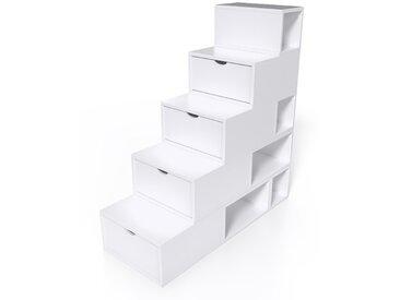 Escalier Cube de rangement hauteur 125 cm  Blanc