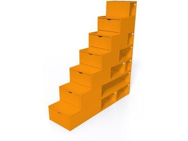 Escalier Cube de rangement hauteur 175 cm  Orange