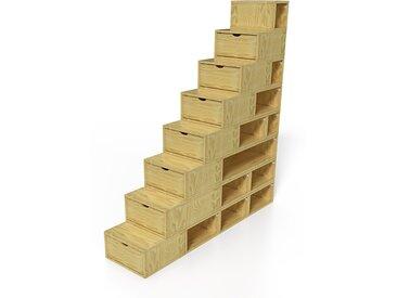 Escalier Cube de rangement hauteur 200 cm  Miel