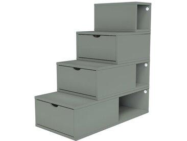Escalier Cube de rangement hauteur 100 cm  Gris