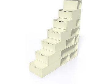 Escalier Cube de rangement hauteur 175 cm  Ivoire