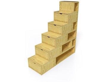 Escalier Cube de rangement hauteur 150cm  Miel