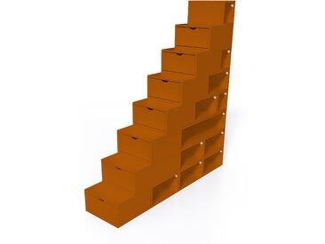 Escalier Cube de rangement hauteur 200 cm  Chocolat