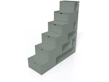 Escalier Cube de rangement hauteur 150cm  Gris