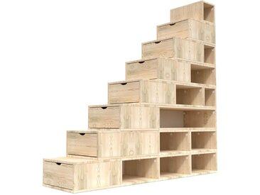 Escalier Cube de rangement hauteur 200 cm  Brut