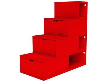 Escalier Cube de rangement hauteur 100 cm  Rouge